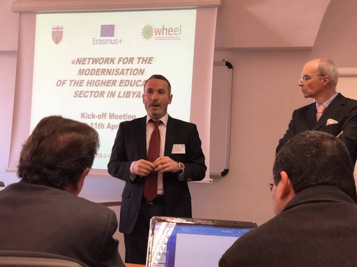 Libyan International Medical University participation in the kick-off Meeting of the WHEEL Project in Genoa-Italy